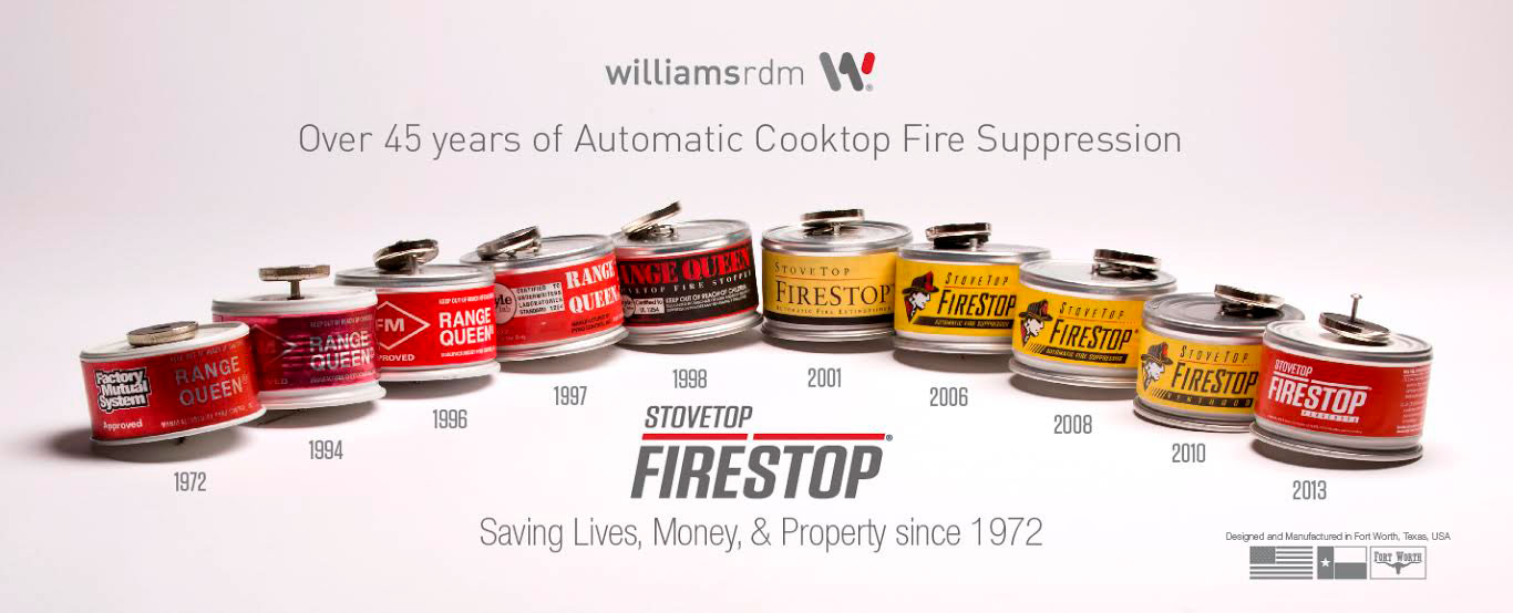 Stovetop Firestop Kitchen Fire Suppression Product Timeline