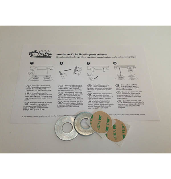 Stovetop Firestop Fire Protection Adhesive Mounting Kit