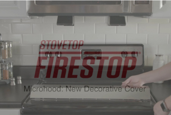 Stovetop Firestop Microhood Kitchen Fire Suppression Decorative Covers Video
